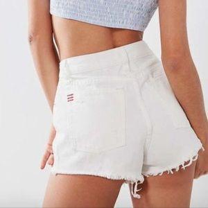 BDG White Denim Shorts